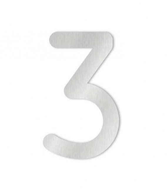 Stainless steel house number MAX 3