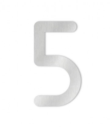 Stainless steel house number MAX 5