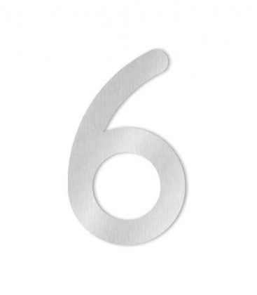 Stainless steel house number MAX 6