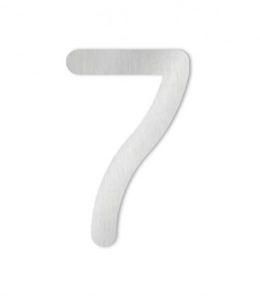 Stainless steel house number MAX 7
