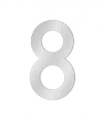 Stainless steel house number MAX 8