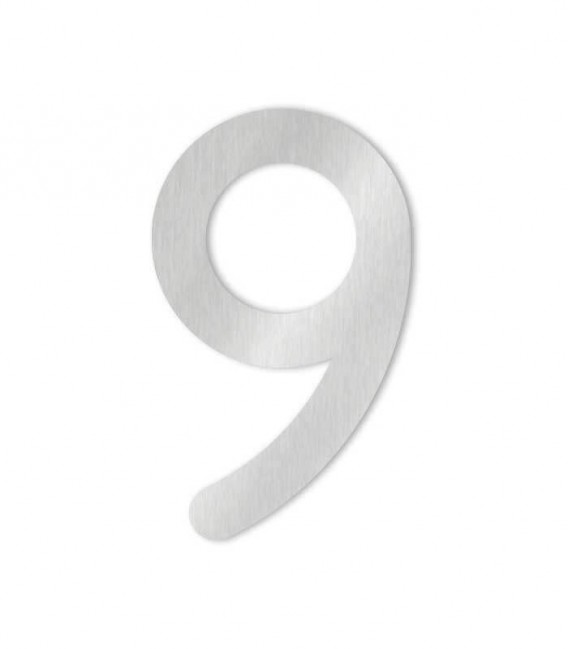 Stainless steel house number MAX 9