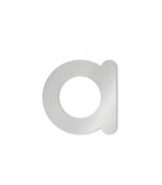 Stainless steel house number MAX letter a