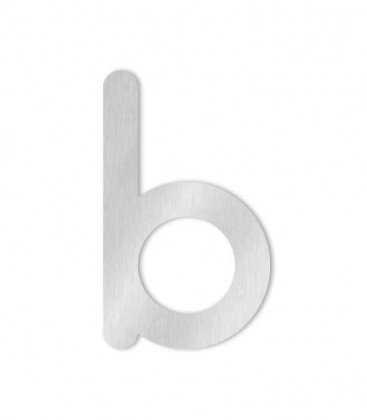 Stainless steel house number MAX letter b