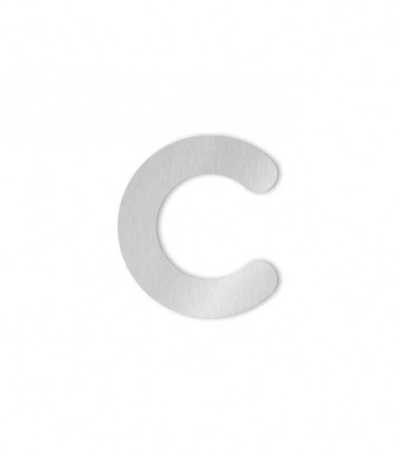 Stainless steel house number MAX letter c