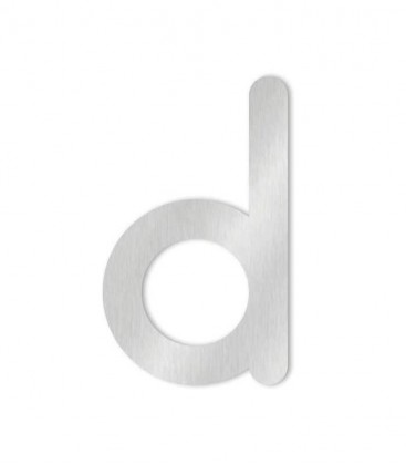 Stainless steel house number MAX letter d