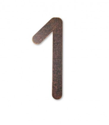 Stainless house number MAX 1, brown-gold