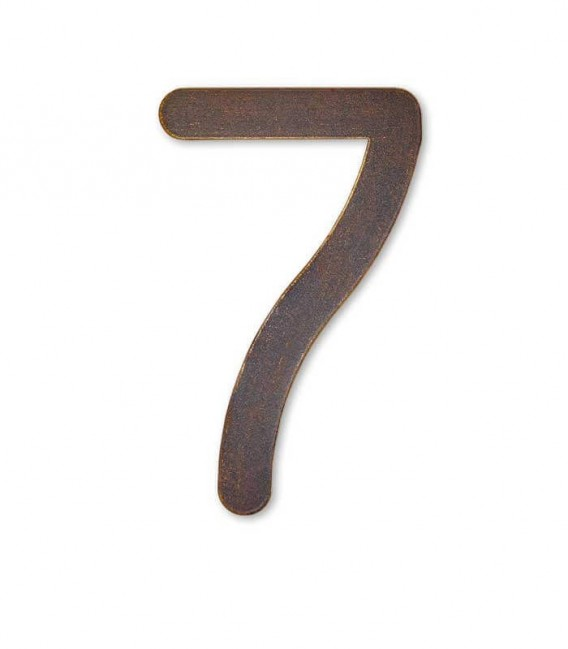 Stainless house number MAX 7, brown-gold