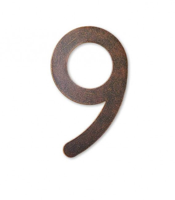 Stainless house number MAX 9, brown-gold