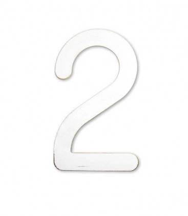 Stainless house number MAX 2, white-gold