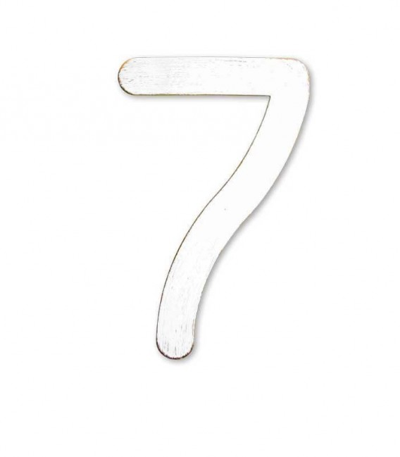 Stainless house number MAX 7, white-gold
