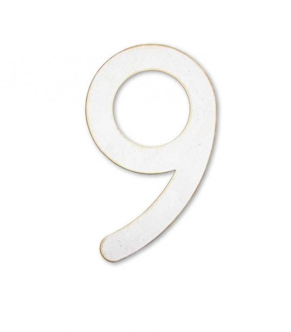 Stainless house number MAX 9, white-gold