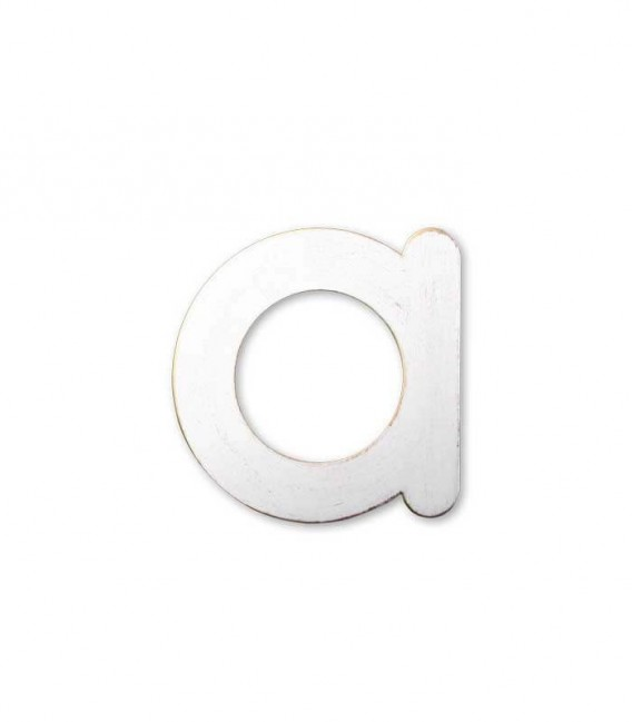 Stainless house number MAX letter a, white-gold