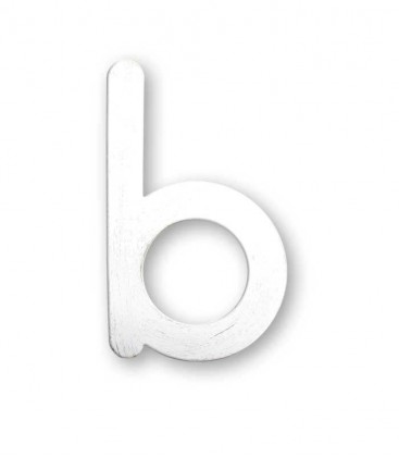 Stainless house number MAX letter b, white-gold