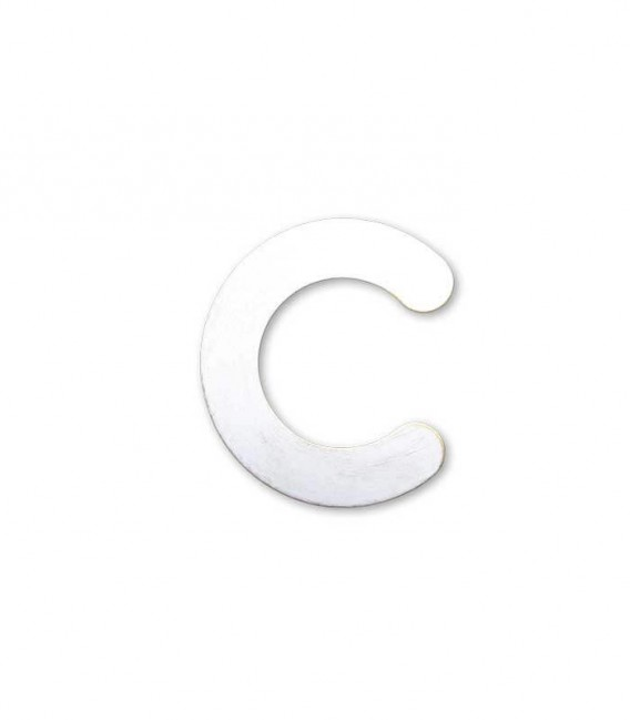 Stainless house number MAX letter c, white-gold