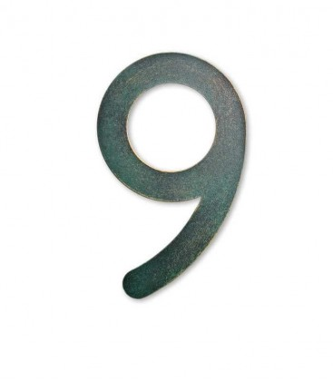 Stainless house number MAX 9, green-gold
