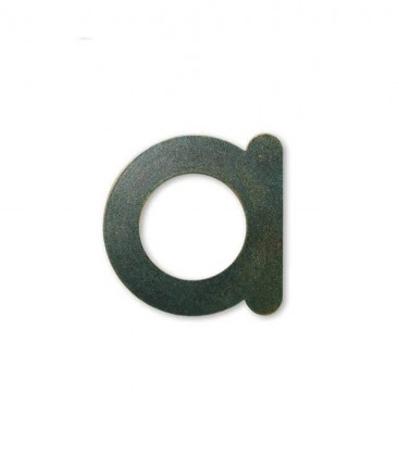 Stainless house number MAX letter a, green-gold