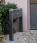 Free standing multiple mailbox, graphite, 3 vertical boxes