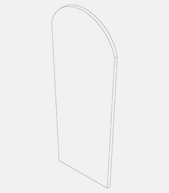Replacement glass for light 68238