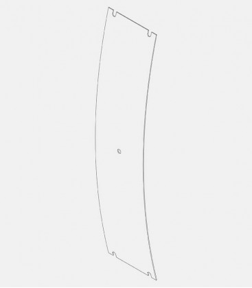 Replacement glass for light 68002