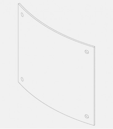 Replacement glass for lights 68196, 68204, 68204, 68097, 68122, 68123, 68124