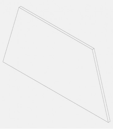 Replacement glass for light 68131