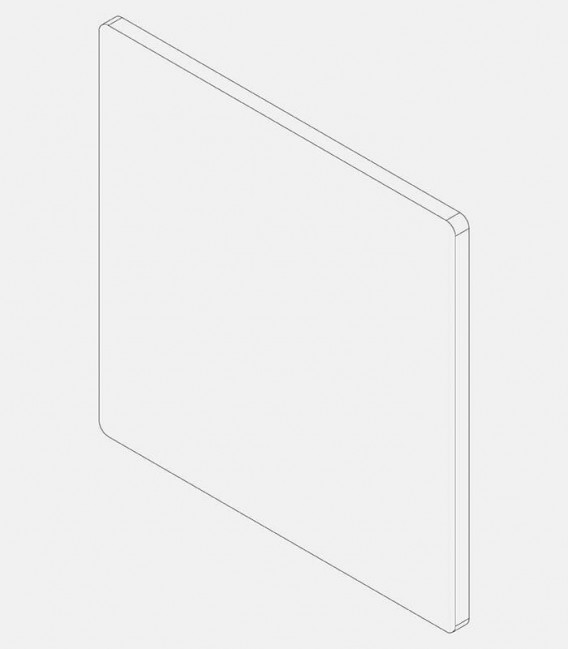 Replacement glass for light 68210