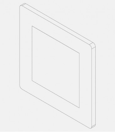 Replacement glass for light 68224