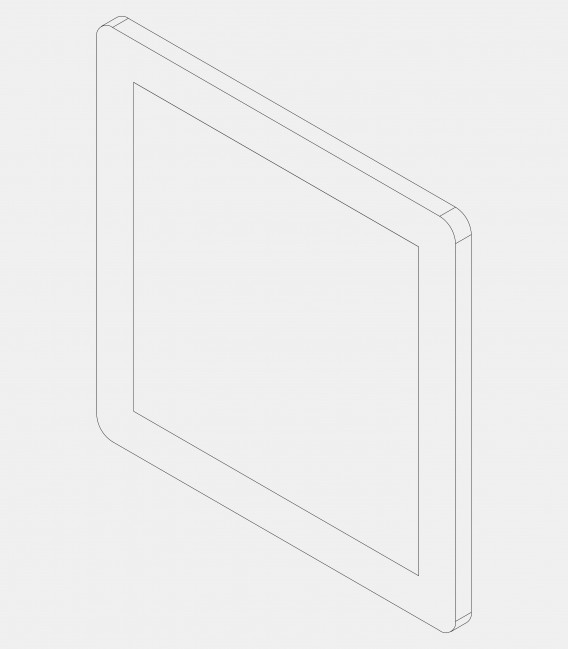 Replacement glass for lights, wide 68213, 68226