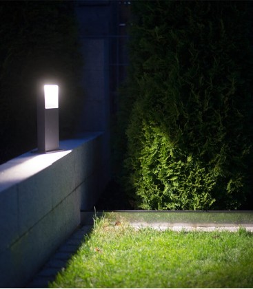 Graphite LED path lighting STRATO, H 35 cm