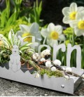 Stainless steel deco tray easter & happy easter