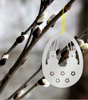 Hanging easter egg, stainless steel