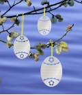 Easter decoration deco hanger set of 3