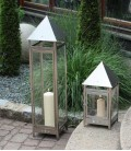 Stainless Candle Lantern, 88 cm
