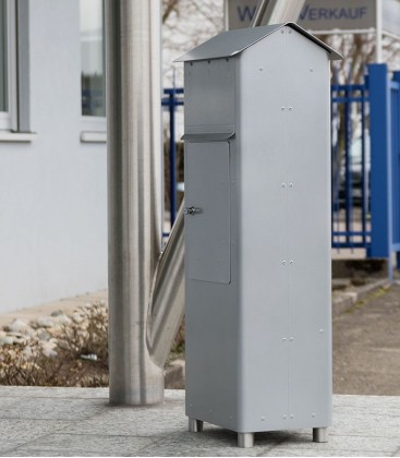 Standing post box GRAN SECURO 02, diamond silver