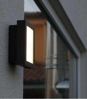 Anthracite LED outdoor wall light OPTIX