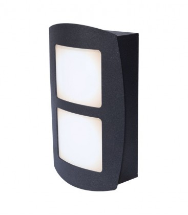 Graphite LED outdoor wall light LUCA
