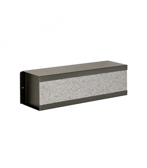 Letterbox KROSIX with newspaper compartment, stainless steel