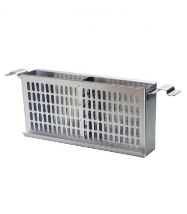 Side Charcoal Basket, Length 65 cm, Stainless Steel
