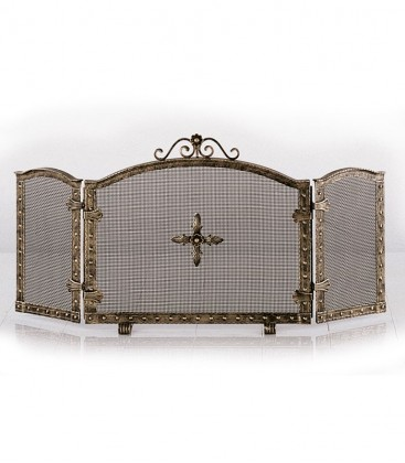 3 fold fire screen, terra-bronce