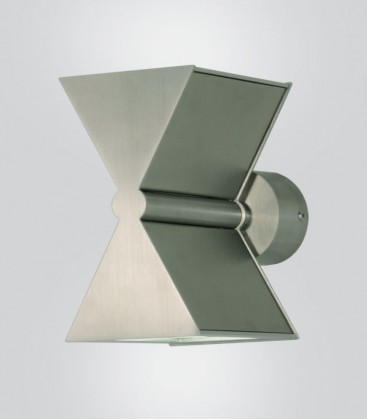 LED outdoor wall light with up + down lights , stainless steel, 3000 K