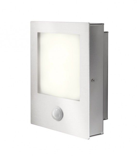 LED wall light MOVO with sensor, stainless steel