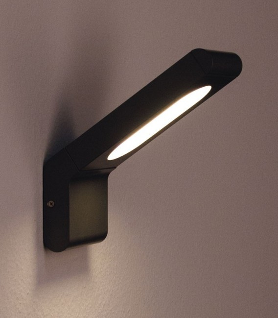 Graphite LED outdoor wall light HELIA