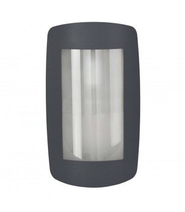 Wall light with rounded corners, anthracite