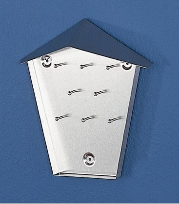 key cabinet with 8 hooks, stainless steel
