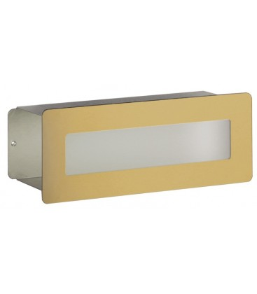 Letterbox DORATO in 24 carat gold, stainless steel