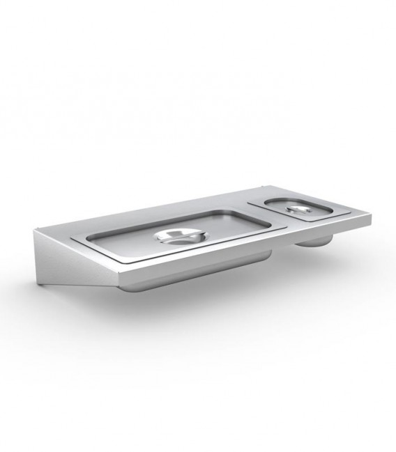 Stainless BBQ Side Table with Gastronorm Containers