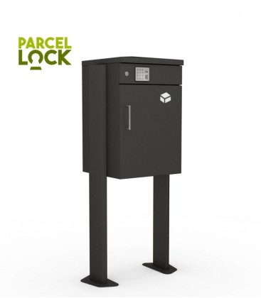 ParcelLock parcel box with stand, graphite