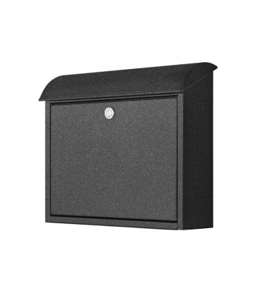 Letterbox with rounded slit, graphite