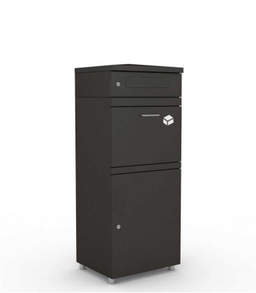 Parcel box XL with letter module, graphite